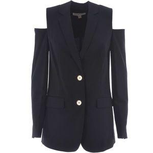 MICHAEL KORS Cold Shoulder Single Breasted Blazer